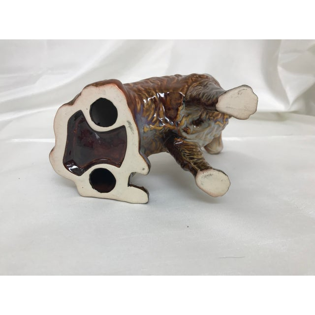 Ceramic 1970s Vintage Glazed Pottery Cocker Spaniel Dog Figurine For Sale - Image 7 of 8