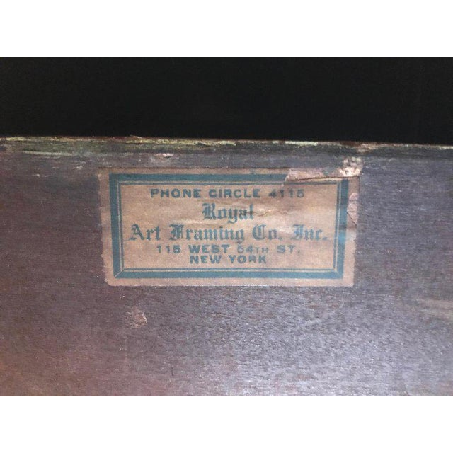 1920s 1920s Vintage American Classic Taos School Arts & Crafts Period Frame For Sale - Image 5 of 7