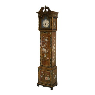 Vintage Chinoiserie Decorated Grandfather Clock