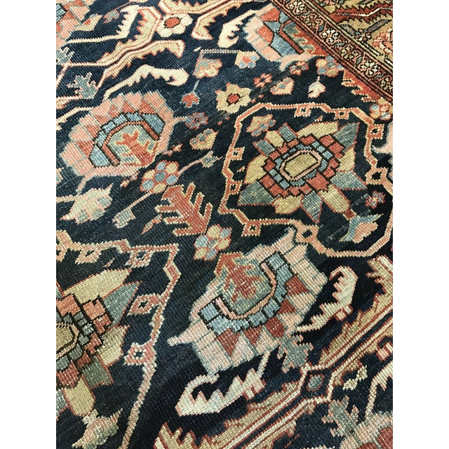 Islamic Antique Persian Heriz Carpet For Sale - Image 3 of 5
