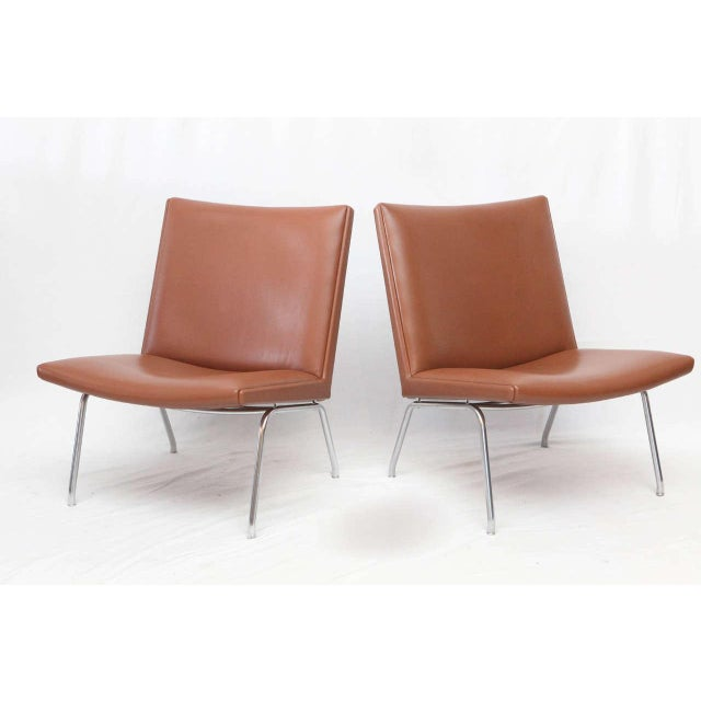 Hans Wegner lounge chairs designed in 1959 and produced by AP Stolen.