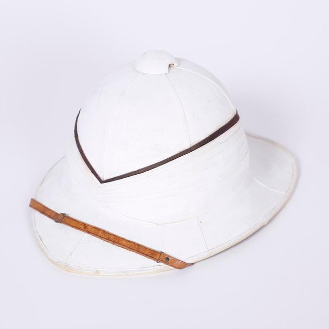 Antique Pith Helmet in Tole Box For Sale - Image 4 of 9