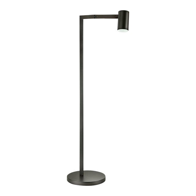 Black Bronze Swing Reading Floor Lamp For Sale