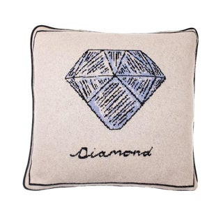 Fee Greening - Diamond Cashmere Pillow For Sale