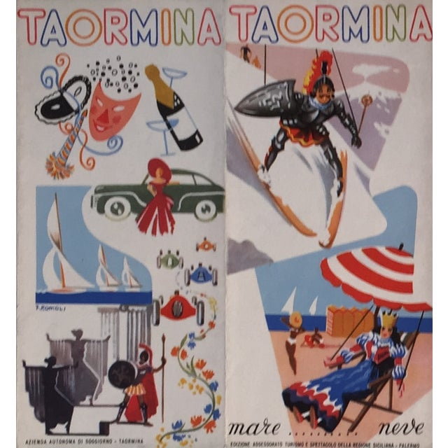 1940s Italian Travel Brochure, Taormina Italy - Image 3 of 8