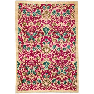"""Arts & Crafts, Hand Knotted Area Rug - 5' 0"""" X 7' 8"""" For Sale"""