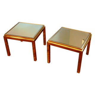 Willy Rizzo Style Side Tables - Pair For Sale