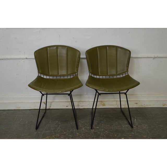 STORE ITEM #: 15873-fwmr Bertoia for Knoll Mid Century Set of 12 Wire Side Dining Chairs AGE/COUNTRY OF ORIGIN – Approx 50...