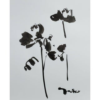 Contemporary Minimalist Abstract Ink Wash Painting by Jose Trujillo For Sale