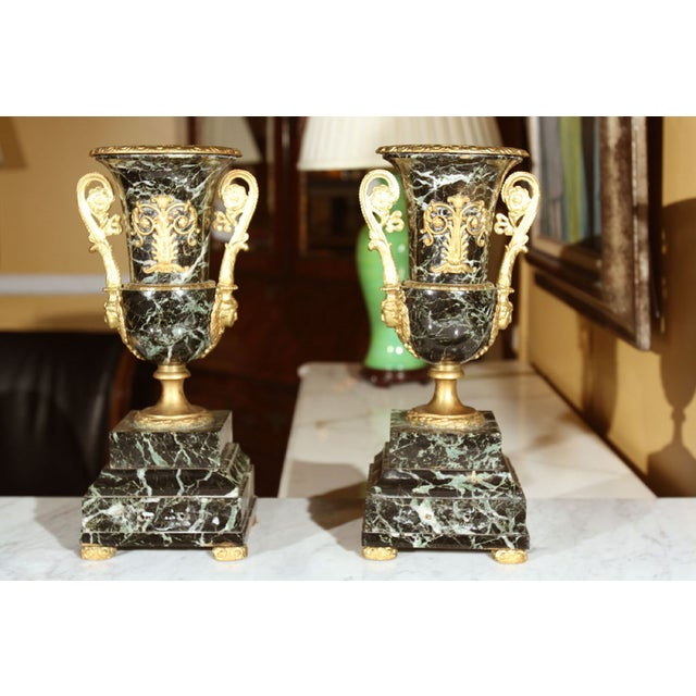 Neoclassical Marble Urns - A Pair - Image 2 of 6