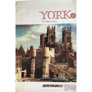 1960s Vintage York Minster Travel Poster For Sale