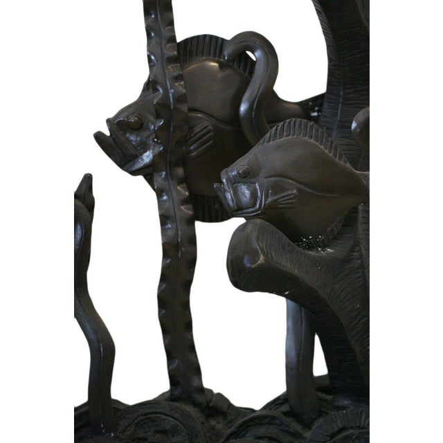 Aquatically Themed Bronze Console Table Base by Mimi London For Sale In Los Angeles - Image 6 of 8