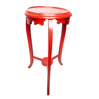 1930's Chinese Tall Wood Plant Stand For Sale