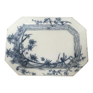 English 1920's Ironstone Platter For Sale