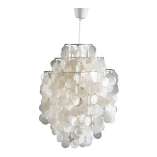 Fun 1 DM Capiz cap chandelier by Verner Panton for Luber For Sale