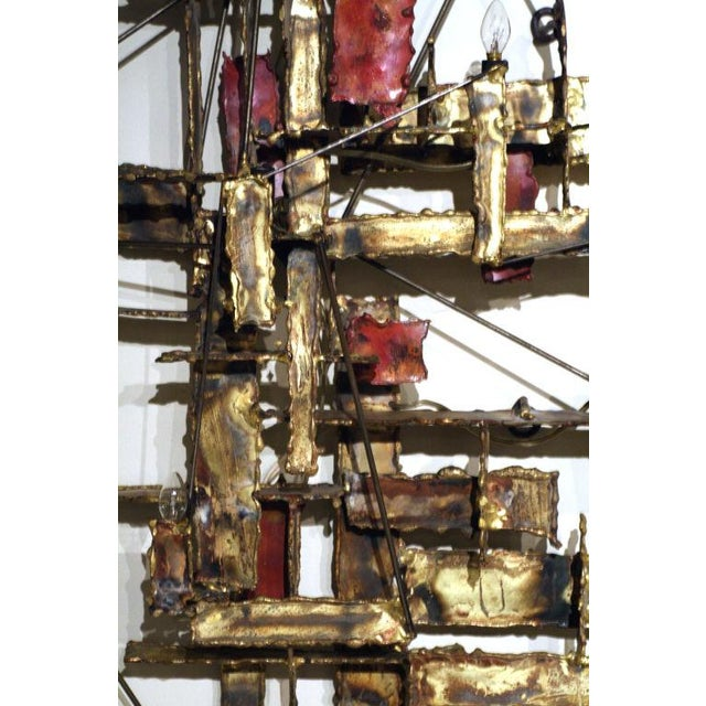 Brutalist Illuminated Wall Sculpture by Silas Seandel For Sale In New York - Image 6 of 6