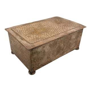 Hammered Silverplate Box For Sale