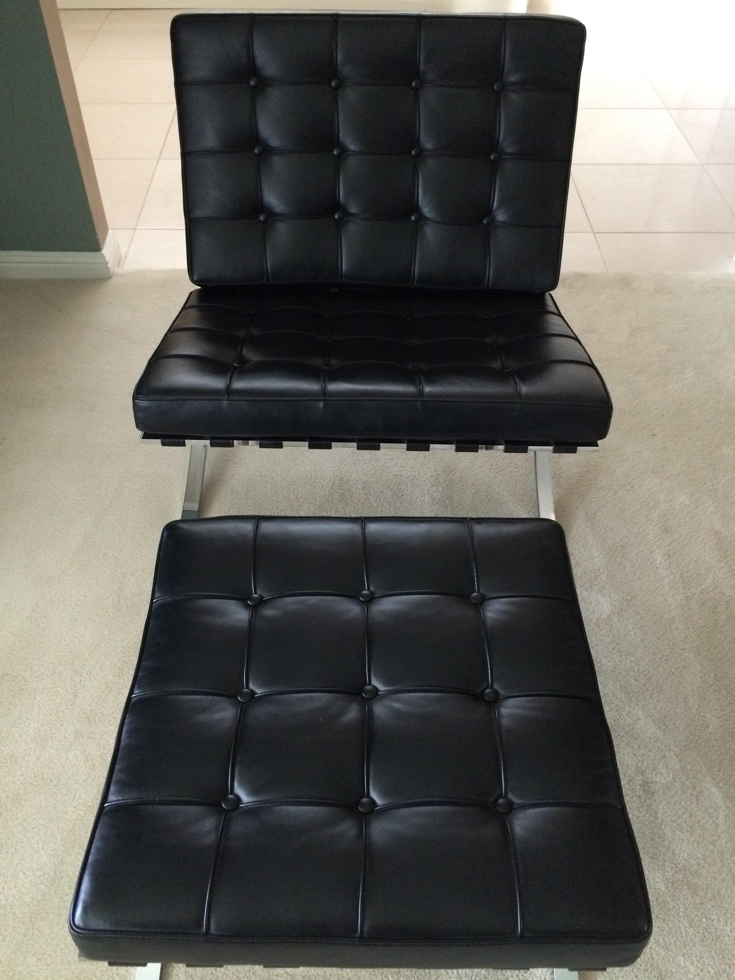 Leather Barcelona Chair U0026 Ottoman By Alivar   Image 3 ...