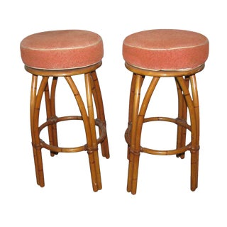 Bamboo Bar Stools - A Pair