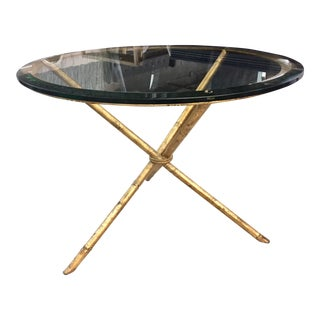 Contemporary Metal Side Table For Sale