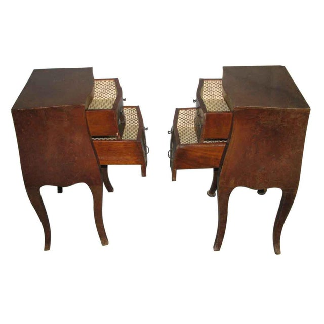 Wood Empire Bed Side Tables - A Pair For Sale - Image 7 of 9