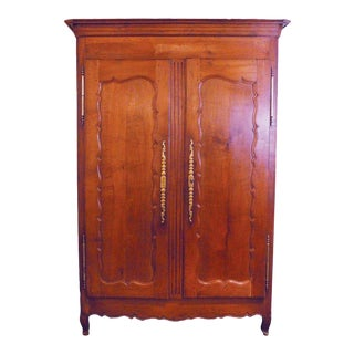 19th Century French Country Two-Door Armoire For Sale