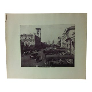 "Antique Glimpses of India Print, ""Old Court House Street - Calcutta"", Circa 1890 For Sale"
