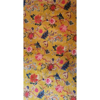 10 Yards 56 Inch Wide Gold Floral Chinoiseri Cotton Velvet Fabric For Sale