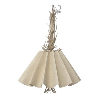Faux Coral Metal Sculptural Hanging Light Chandelier For Sale