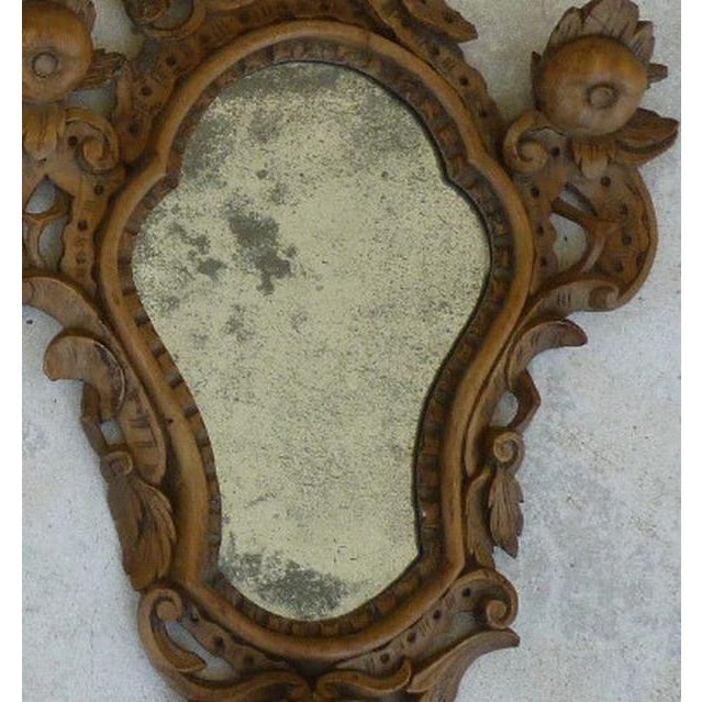 Mid 19th Century Fine 19th C Italian Venetian Rococo Wood Mirrors With Fruits - a Pair For Sale - Image 5 of 10