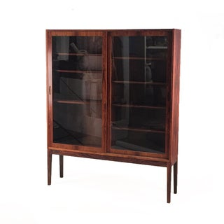 1960s Danish Modern Rosewood & Glass Cabinet Preview