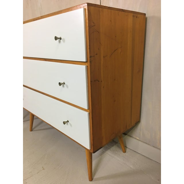 Pair of Paul McCobb Style Dressers with Painted Drawers - Image 4 of 7