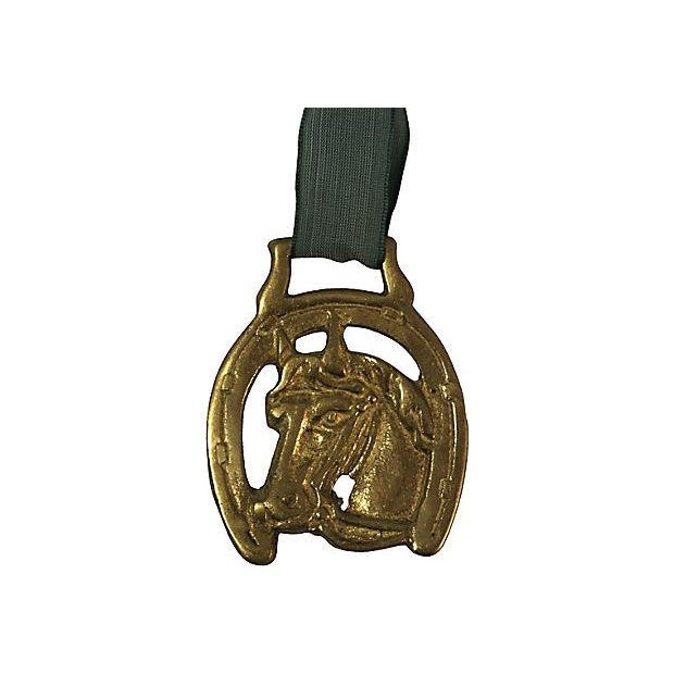 Antique English Lucky Horse Shoe Brass Ornament - Image 2 of 2