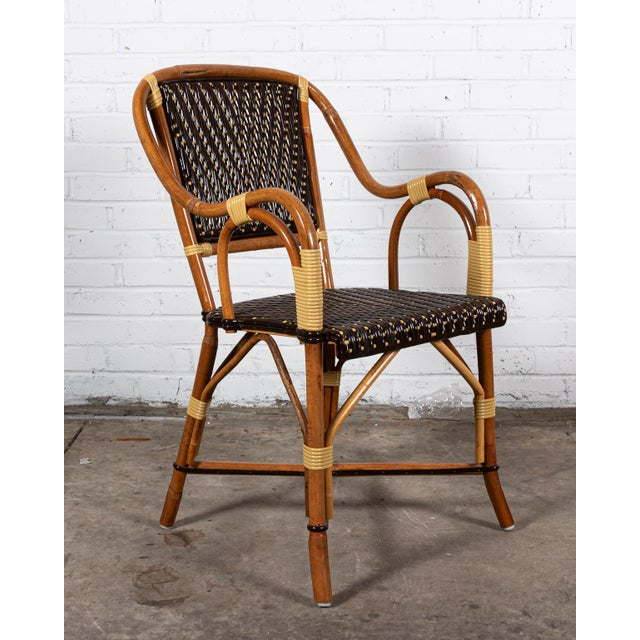 Traditional Rattan Dining Chairs- Set of 8 For Sale - Image 3 of 8