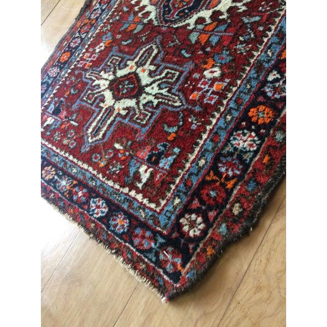 Textile 1930s-1940s Karaja Persian Mat For Sale - Image 7 of 13