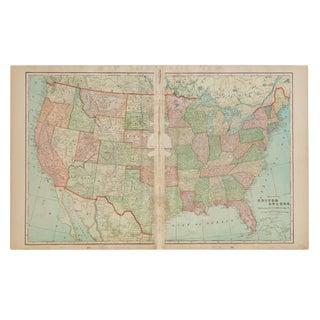 Cram's 1907 Map of United States of America