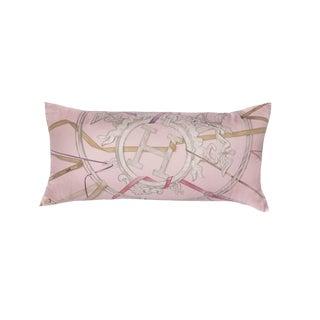 """Attrape Tes Reves"" Hermès Silk Scarf Pillow For Sale"