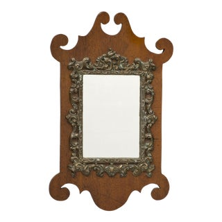 Antique Miniature Chippendale Mirror, Circa 1875 For Sale
