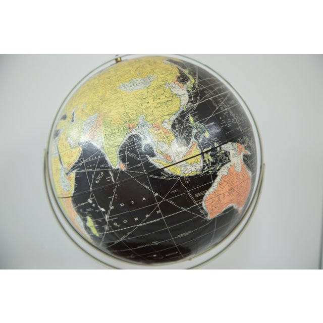 1960s Rand McNally Black Globe - Image 3 of 10
