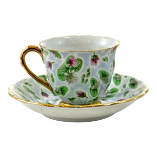 Blue-Green Demitasse Cup & Saucer