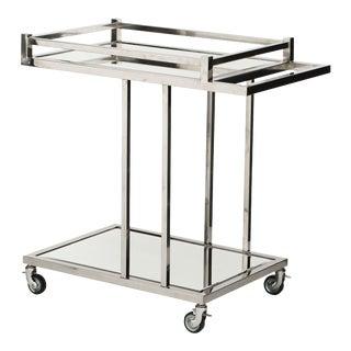 Silver Bar Cart   Eichholtz Beverly Hills For Sale
