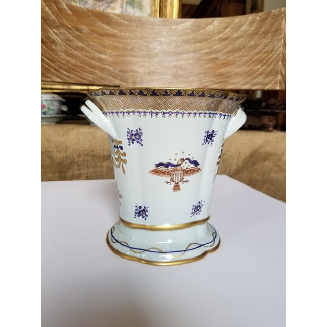Paint Chinese Export Style Vase by Mottahedeh For Sale - Image 7 of 11