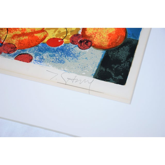 Hand Lithographed Still Life Print by French Artist Yves Ganne For Sale - Image 4 of 10