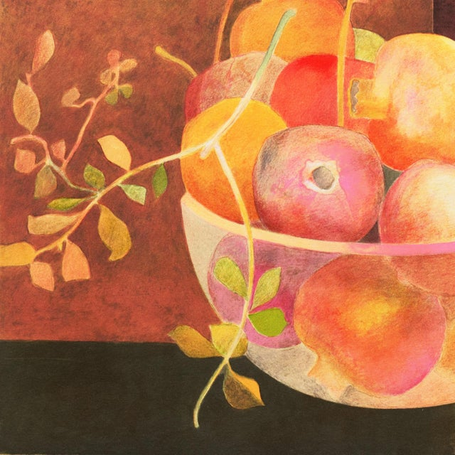 Red Still Life of Pomegranates by Pierre Garcia Fons For Sale - Image 8 of 10