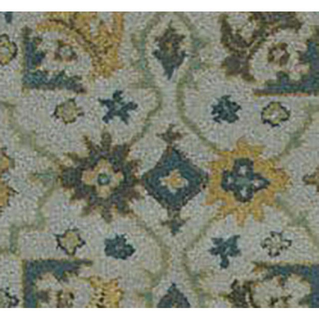 French Country Traditional Hand Tufted Geometric Wool & Cotton Rug - 8' X 10' For Sale - Image 3 of 4