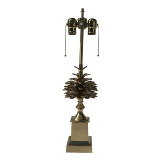 "Brass ""Pomme De Pin"" Pinecone Lamp For Sale"