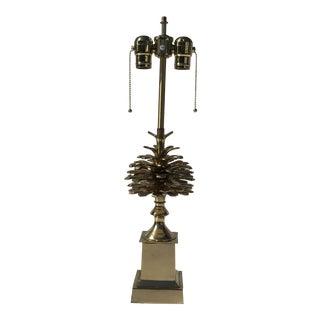 "Brass ""Pomme De Pin"" Pinecone Lamp"