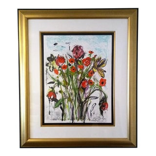 """""""Anemones"""" Jim Dine Signed Limited Edition Lithograph"""