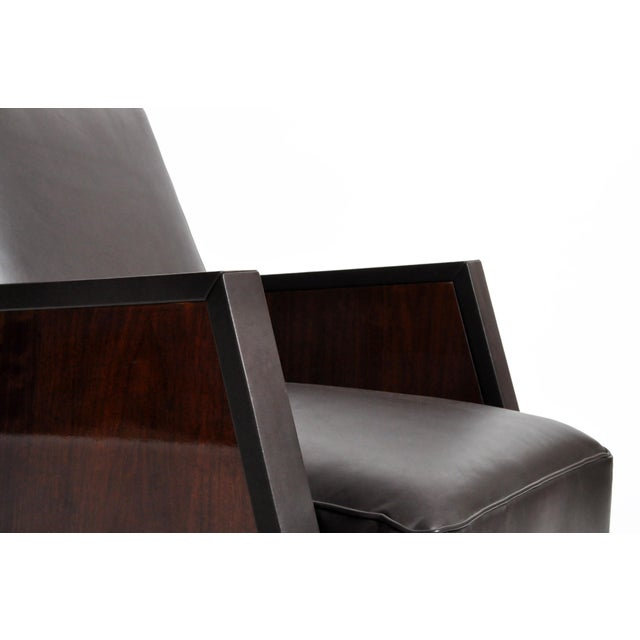 Italian Leather Reclinable Armchairs - a Pair For Sale - Image 12 of 13