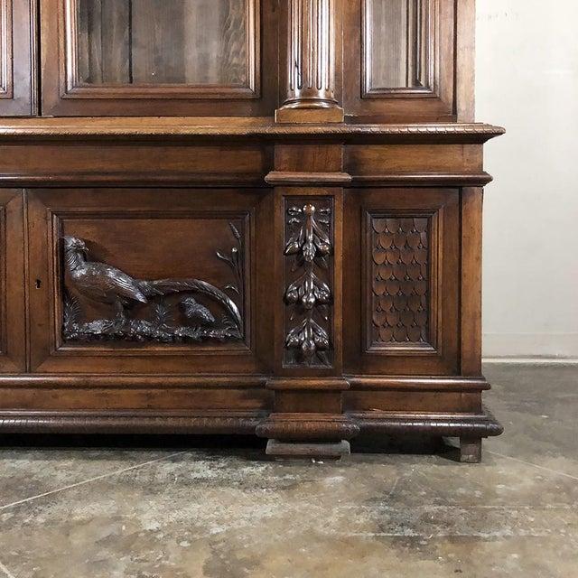 Grand 19th Century Italian Walnut Neoclassical Bookcase For Sale - Image 9 of 13